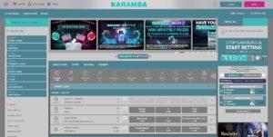 Karamba sports screenshot