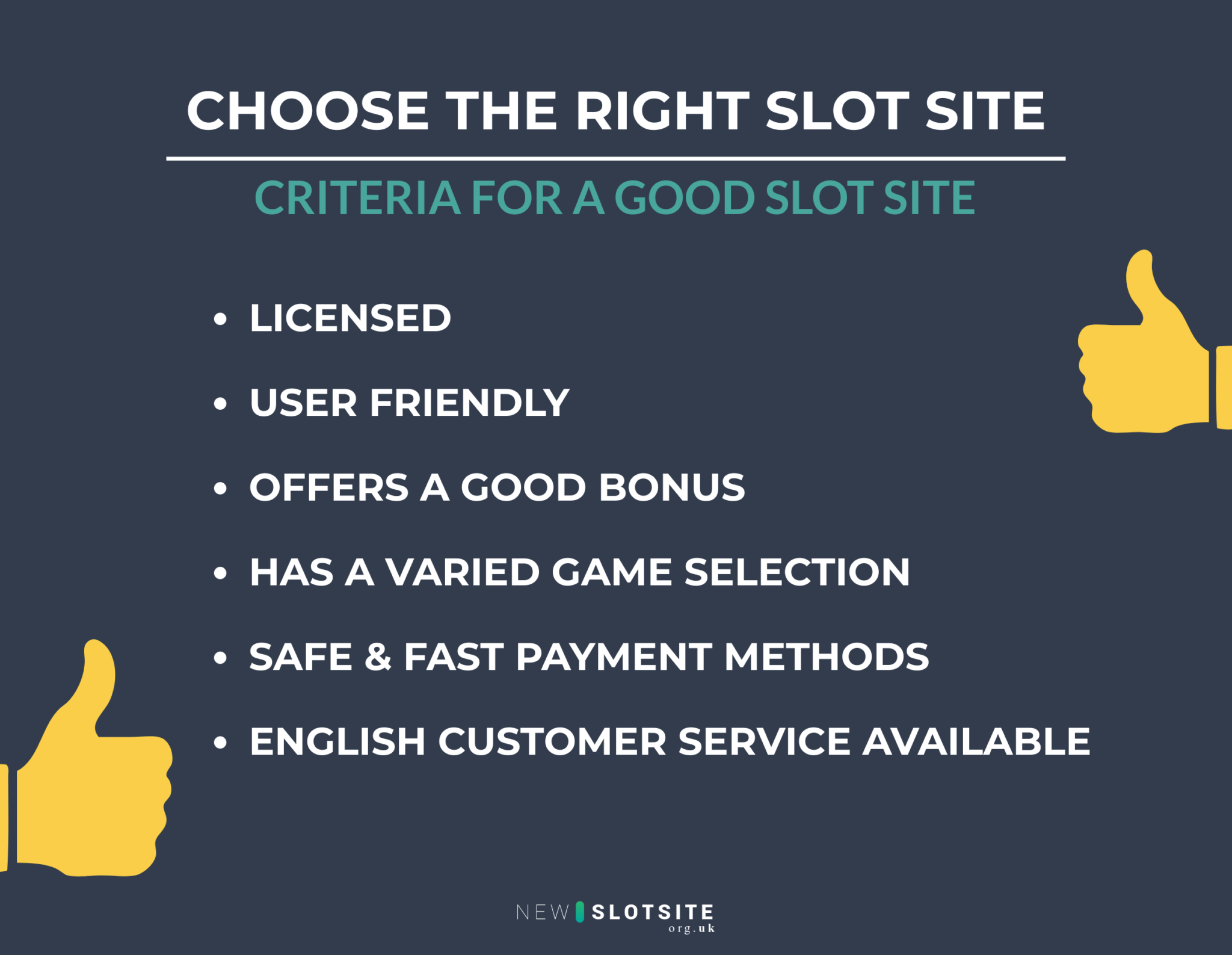 choose the right new slot site